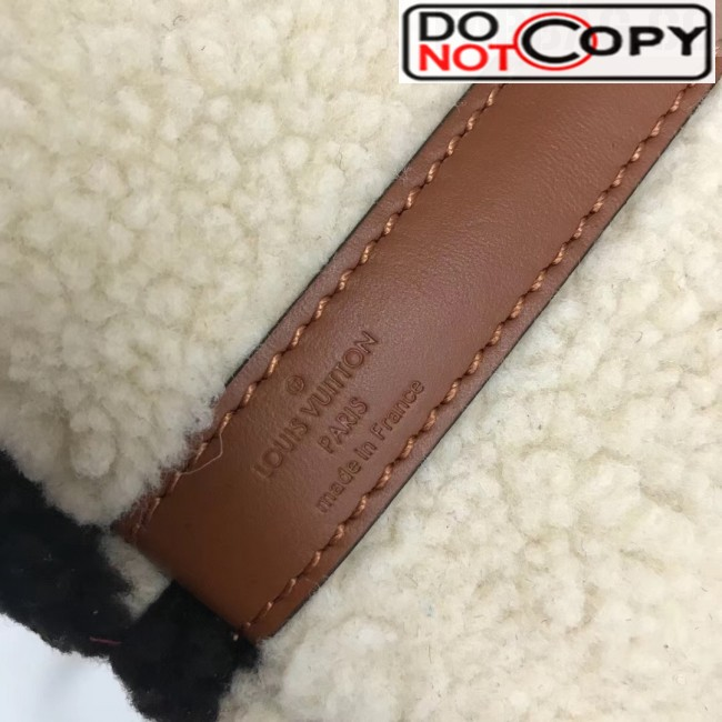 Louis Vuitton Teddy Speedy 25 Monogram Fur Top Handle Bag M55422 Coffee