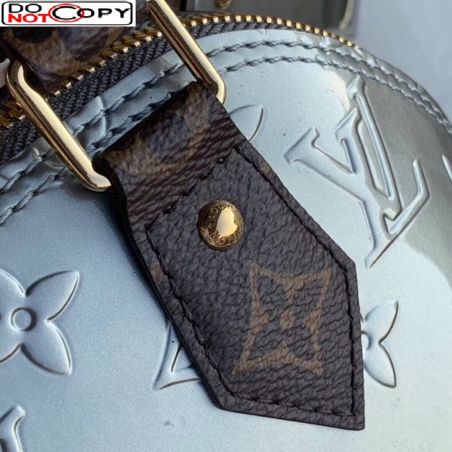Louis Vuitton Alma BB in Silver Monogram Vernis Leather M90584 Bag