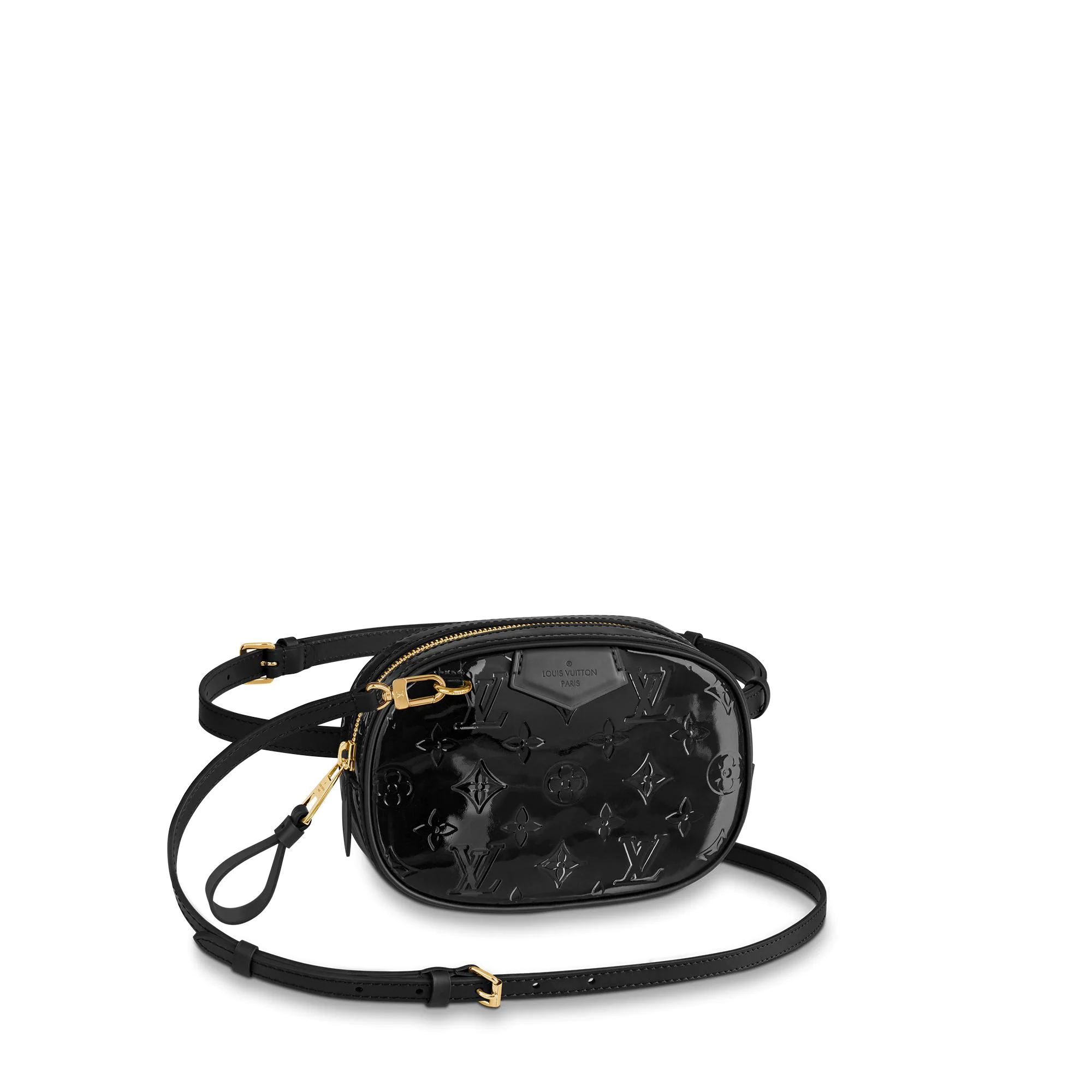 Louis Vuitton Monogram Patent Leather Belt Bag M90531 Black bag