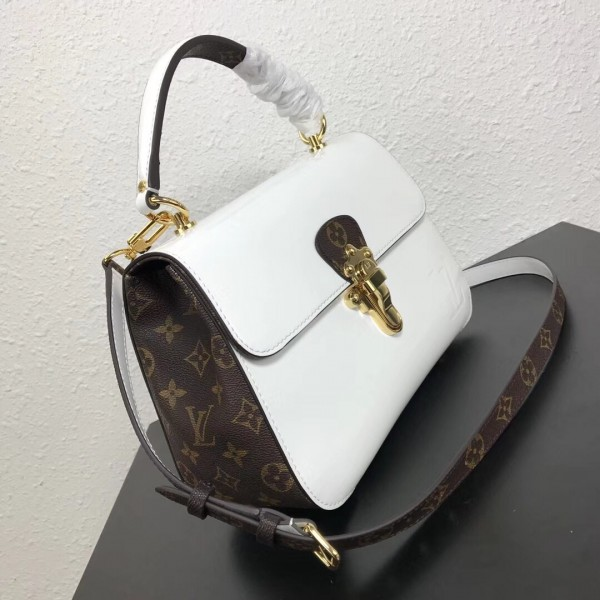 Louis Vuitton White Cherrywood Bag Patent Leather M53352 bag