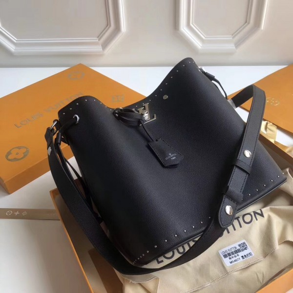 Louis Vuitton Black Lockme Bucket Bag M43878 bag