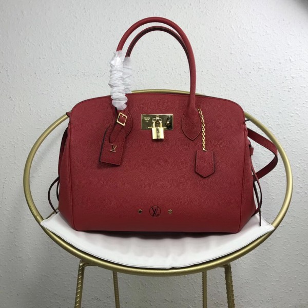 Louis Vuitton Rubarbe Milla MM Bag Veau Nuage M55025 bag