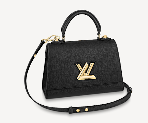 Louis Vuitton Twist One Handle Bag PM in Black Taurillon Leather M57093 bag