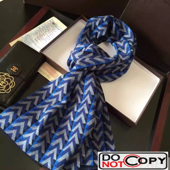 Louis Vuitton Wool Scarf For Men Blue