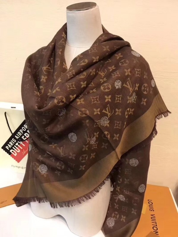 Louis Vuitton Monogram Reverse Dots Denim Shawl MP1854