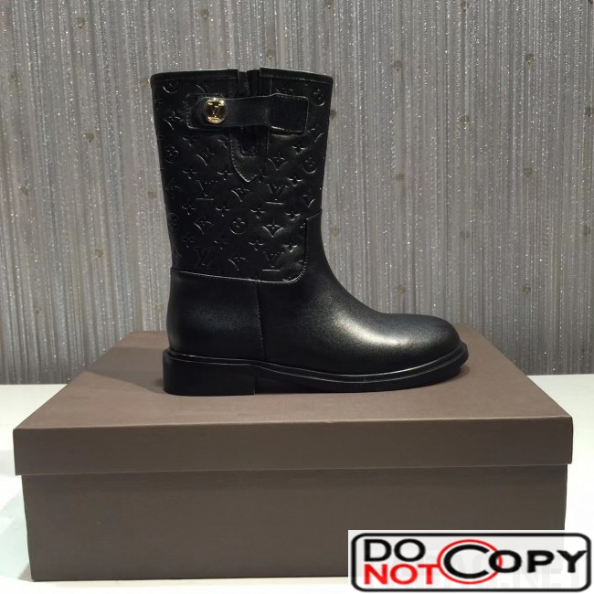 Louis Vuitton Embossed Leather Drops High Boot