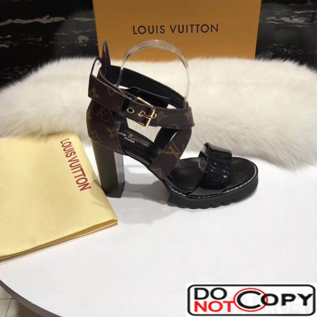 Lousi Vuitton Star Trail Sandal in Monogram Canvas Patent Leather