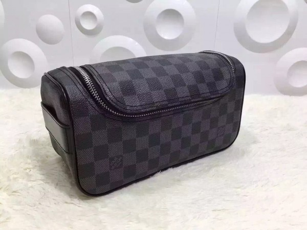 Louis Vuitton Toiletry Pouch Damier Graphite N47625